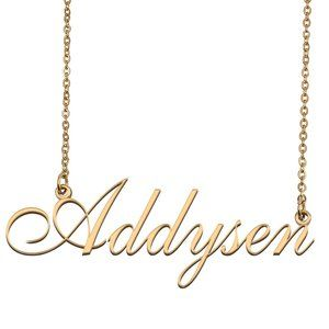 Custom Personalized Addysen Name Necklace